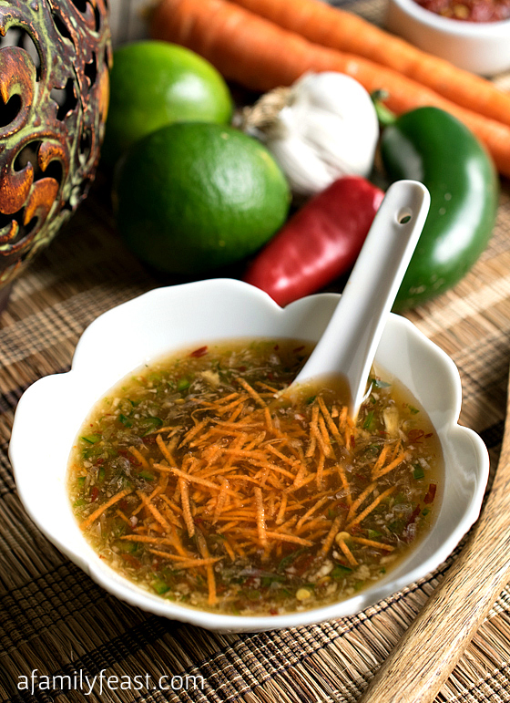 Vietnamese Dipping Sauce - A simple homemade sauce that is fantastic with seafood and vegetables, on tacos, or as a dressing on a Asian slaw.