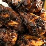 Dry Rub Spicy Barbecue Chicken Wings - A Family Feast
