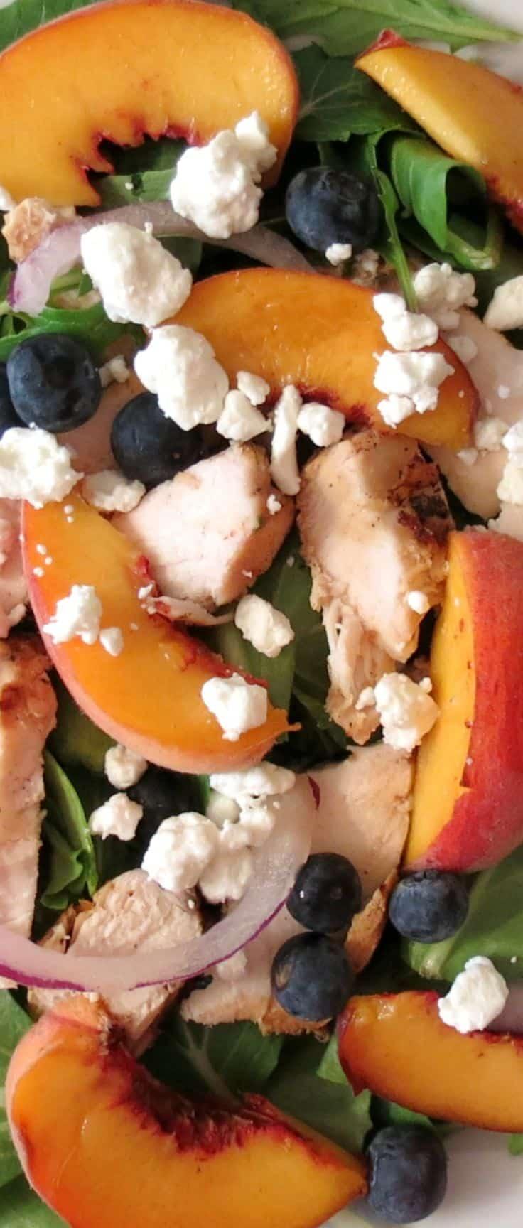 Blueberry Peach Chicken Salad - 25-Plus Perfect Peach Recipes