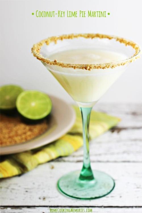 Coconut Key Lime Martini - 30-Plus Fantastic Key Lime Recipes - A Family Feast