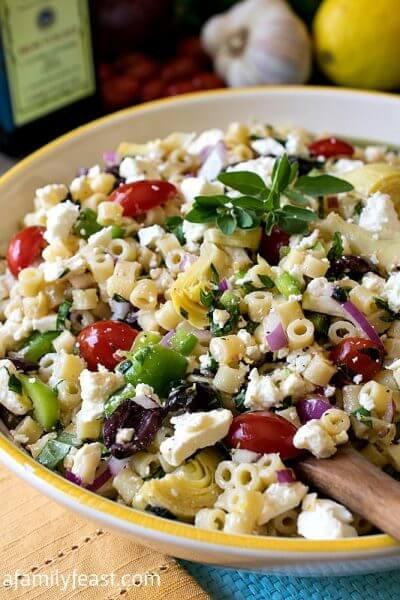 Mediterranean Pasta Salad - A Family Feast