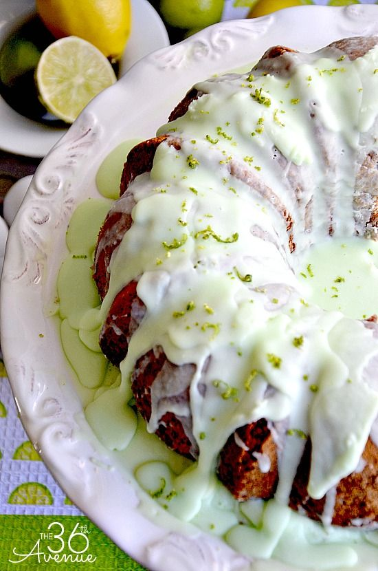 Key Lime Bundt Cake - 30-Plus Fantastic Key Lime Recipes - A Family Feast