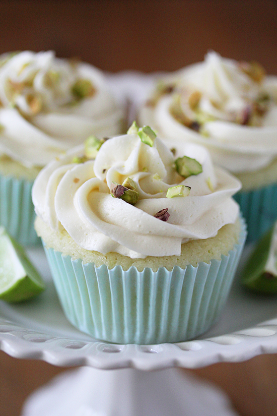 Key Lime Cupcakes with White Chocolate Frosting - 30-Plus Fantastic Key Lime Recipes - A Family Feast