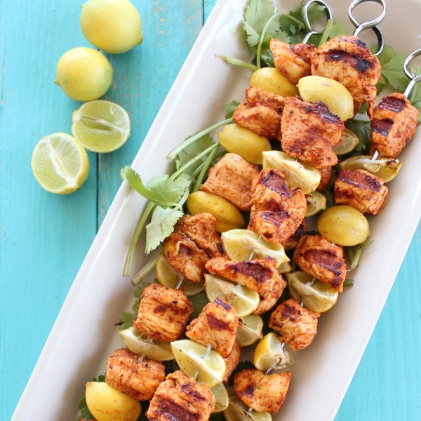 Key Lime Grilled Chicken Taco Skewers - 30-Plus Fantastic Key Lime Recipes - A Family Feast