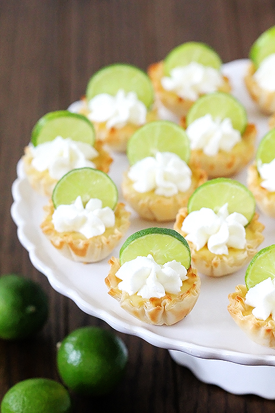 Key Lime Pie Tarlets - 30-Plus Fantastic Key Lime Recipes - A Family Feast