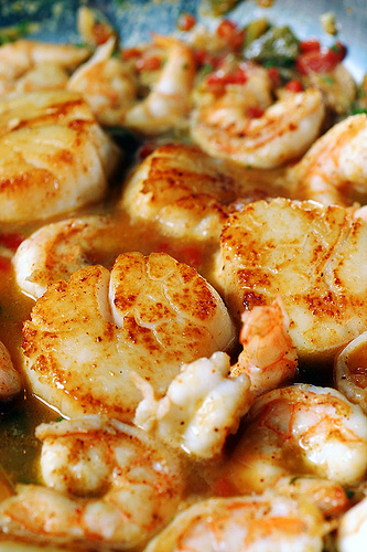 Key Lime Shrimp and Scallops - 30-Plus Fantastic Key Lime Recipes - A Family Feast