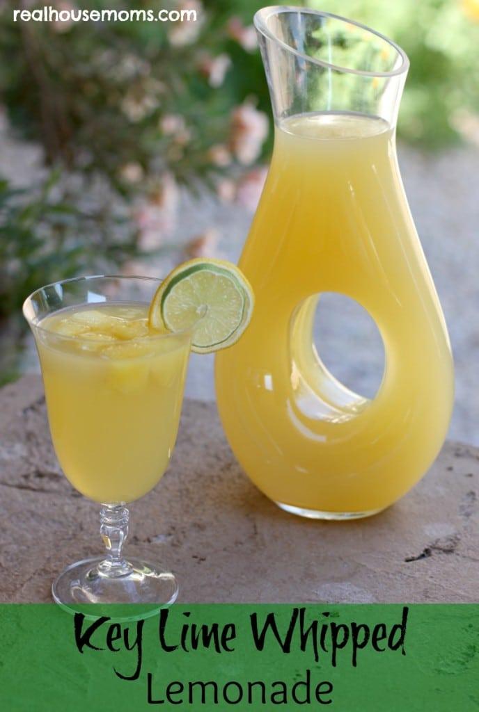 Key Lime Whipped Lemonade - 30-Plus Fantastic Key Lime Recipes - A Family Feast
