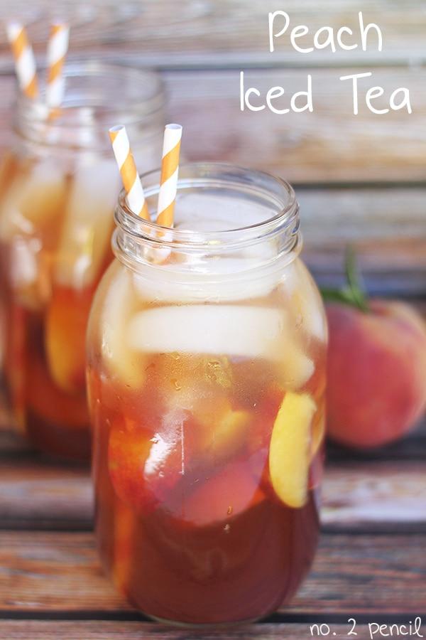 Peach Iced Tea - 25-Plus Perfect Peach Recipes
