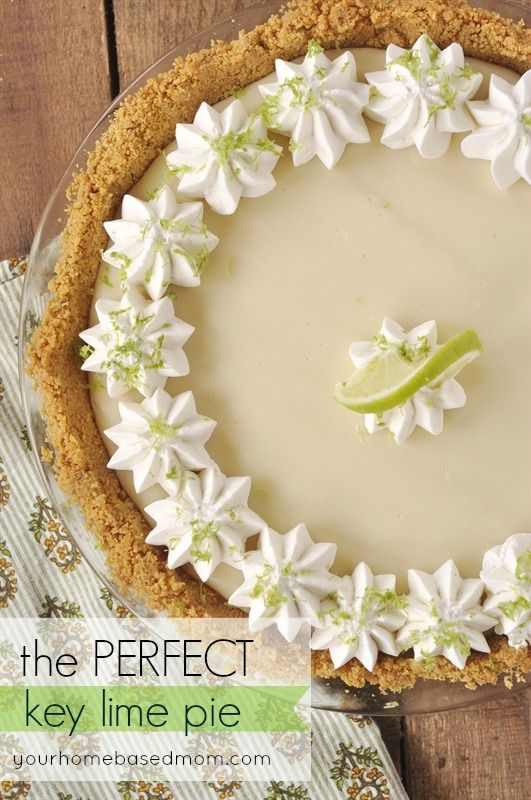 Perfect Key Lime Pie - 30-Plus Fantastic Key Lime Recipes - A Family Feast