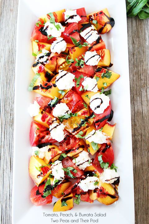 Tomato, Peach & Burrata Salad - 25-Plus Perfect Peach Recipes