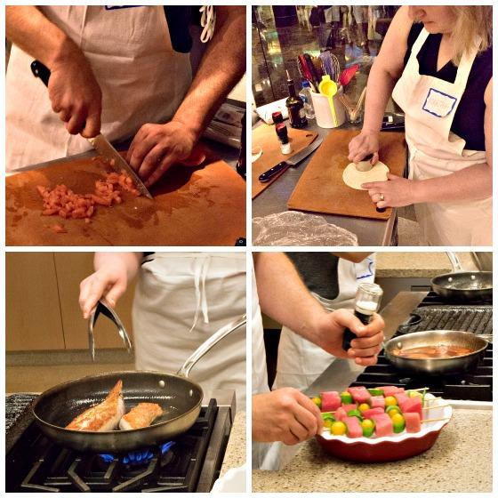 Lemon-Glazed Swordfish Skewers Over Rice - A Family Feast