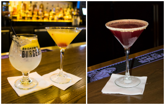 DoAC Broadway Burger Bar Drinks - A Family Feast