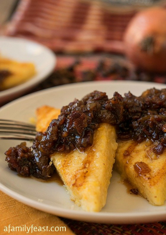 Grilled Polenta with Bacon Jam - A Family Feast