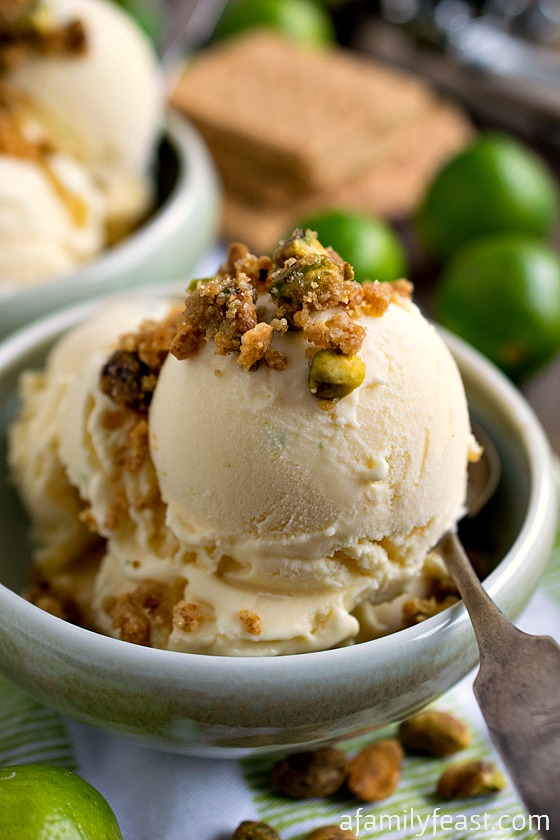 ... Topping - All the great flavors in a Key lime pie in ice cream form