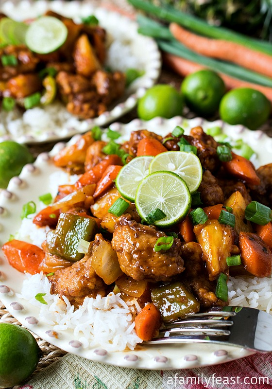 Sweet and Sour Key Lime Pork - A Family Feast
