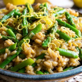 Asparagus Lemon Risotto - A Family Feast