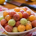 Melon Balls with Poppy Seed Dressing - A Family Feast