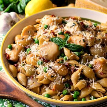 Sea Scallops with Cipollini Onions and Pasta - A Family Feast