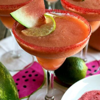 Watermelon and Pink Grapefruit Frozen Margaritas - A Family Feast