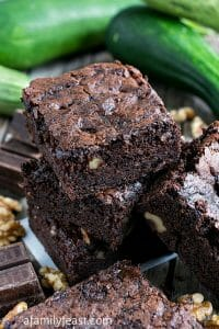 Zucchini Brownies - A Family Feast