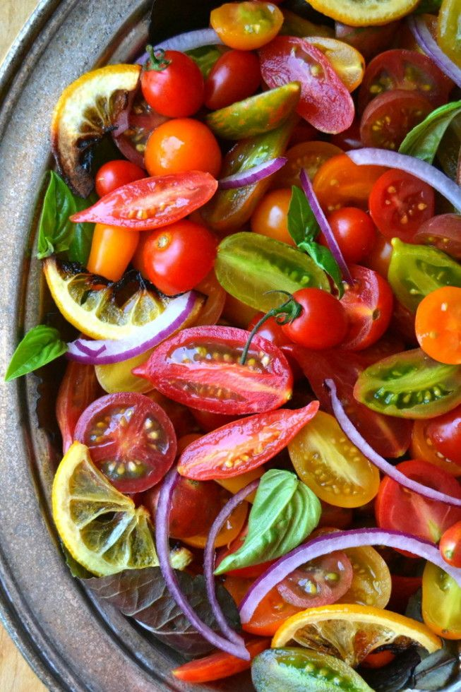 Tomato, Onion and Roasted Lemon Salad - 30+ Recipes for Your Garden Tomatoes