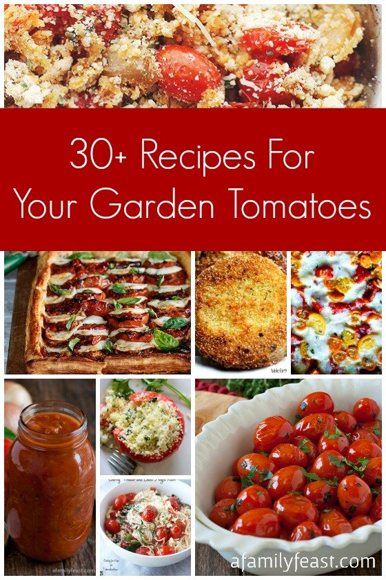 30-Plus Recipes for your Garden Tomatoes - A Family Feast