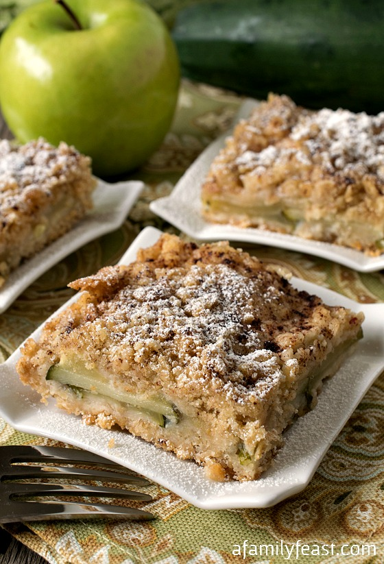 Apple Zucchini Crumb Bars - A Family Feast