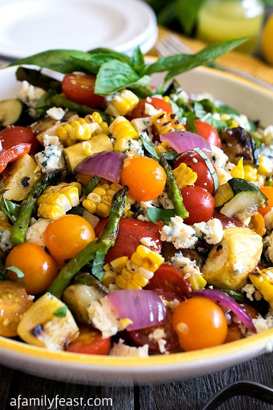 ... today we're sharing our recipe for a Grilled Summer Vegetable Salad