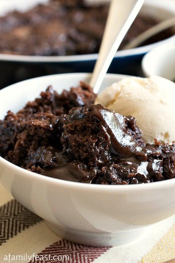 Hot Fudge Pudding Cake - A Family Feast