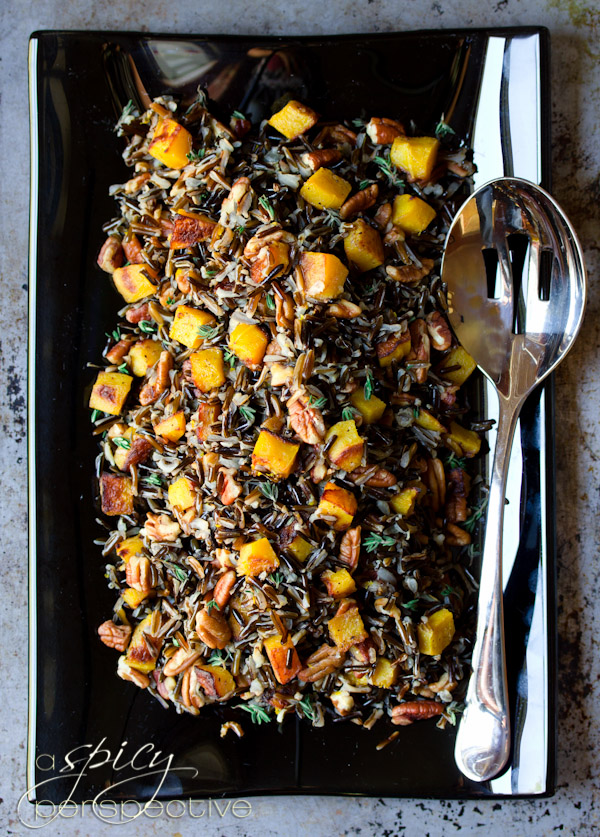Black and Orange Forbidden Rice with Acorn Squash and Pecans - 30+ Remarkable Rice Recipes