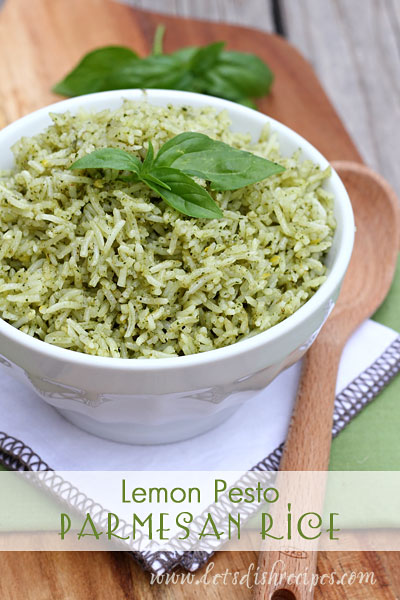 Lemon Pesto Parmesan Rice - 30+ Remarkable Rice Recipes