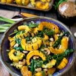 Asian Salad with Roasted Delicata Squash