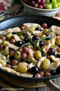 Quick Skillet Chicken with Grapes - A Family Feast