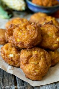 Pumpkin Corn Fritters - A Family Feast