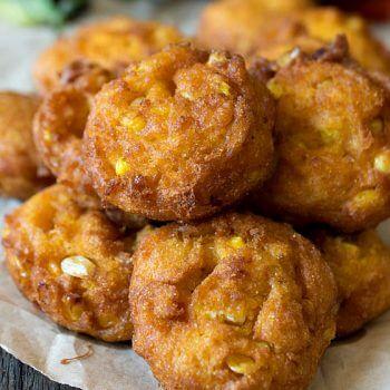 Pumpkin Corn Fritters - A Family Feast
