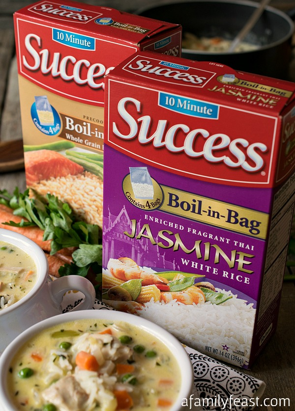 Creamy Chicken and Rice Soup - This delicious and hearty soup only takes about 30-minutes to prepare! The perfect quick weeknight family dinner!