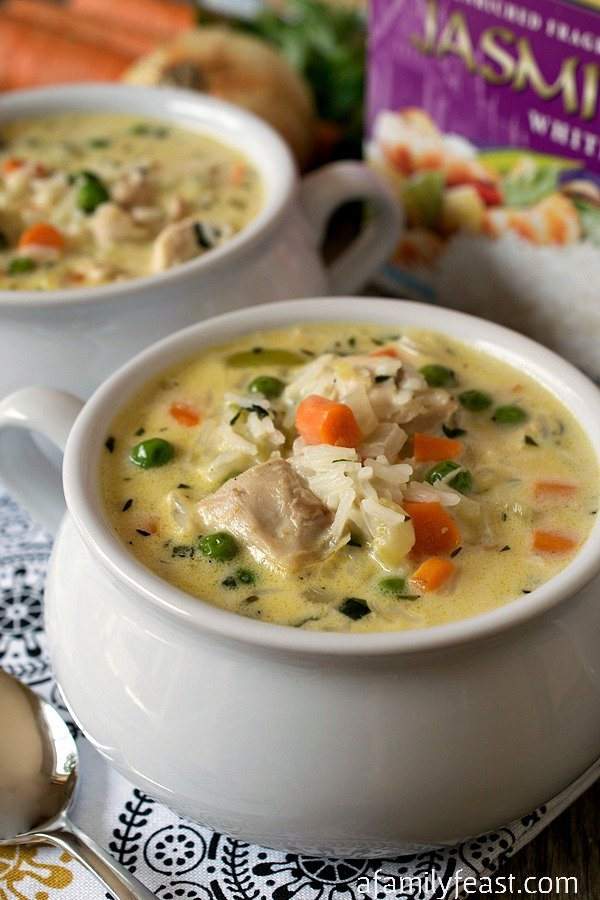 Creamy Chicken and Rice Soup - A Family Feast
