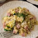 Zucchini, Ham and Rice Skillet