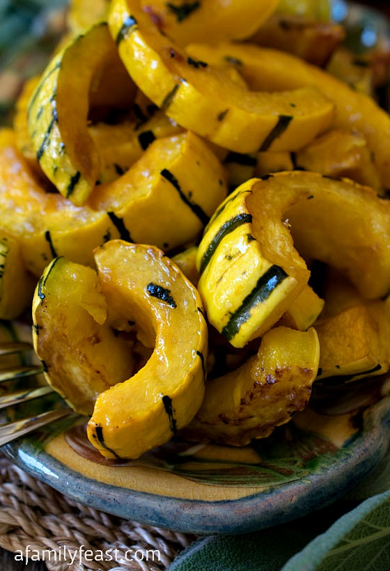Maple Sage Roasted Delicata Squash - A simple way to cook this very delicious squash! One of our favorite recipes!