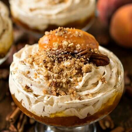 No-Bake Peach Cheesecake Mousse - A Family Feast