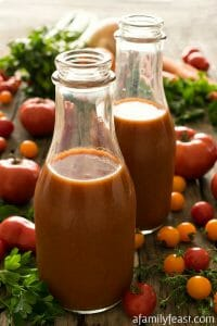 Homemade Tomato Juice - A Family Feast