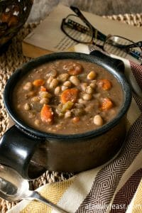 Slow Cooker Tuscan White Bean Soup - A Family Feast