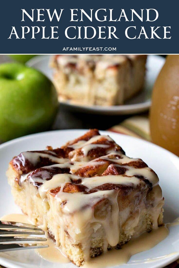 New England Apple Cider Cake