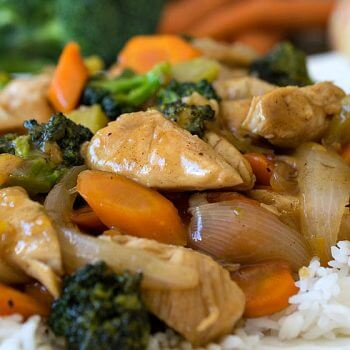 Orange Chicken and Vegetables - A Family Feast