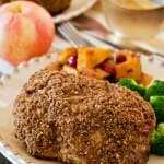 Crispy Apple Crusted Pork Chops