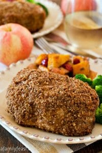 Crispy Apple Crusted Pork Chops - A Family Feast