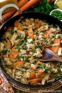 Rotisserie Chicken Skillet - A Family Feast