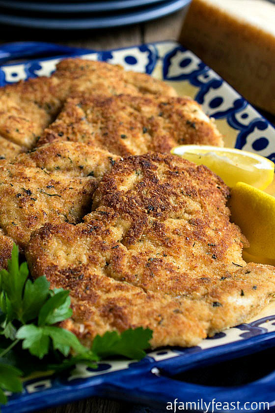 Parmesan Chicken Cutlets - A Family Feast