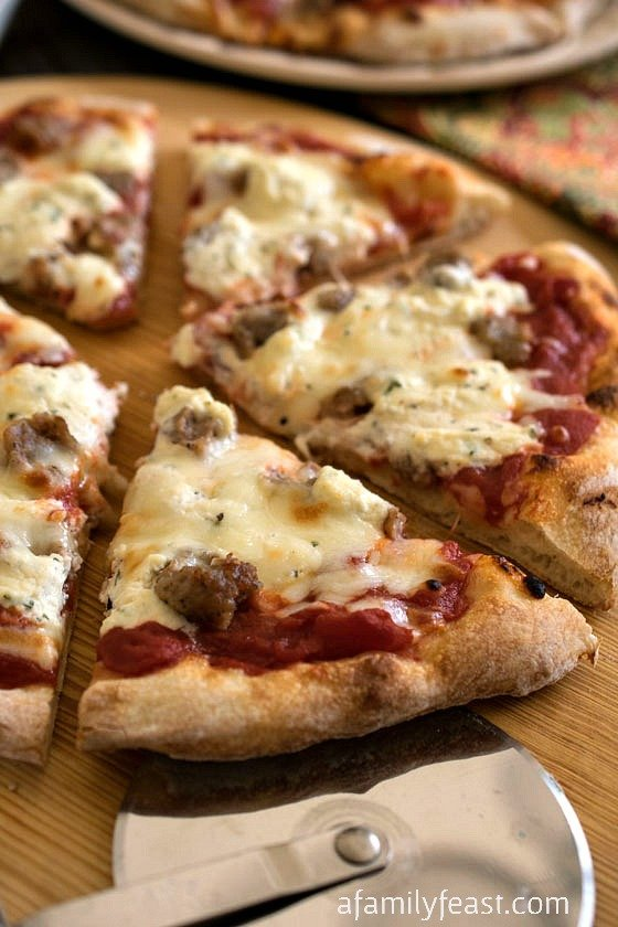 Sausage and Ricotta Pizza - A Family Feast