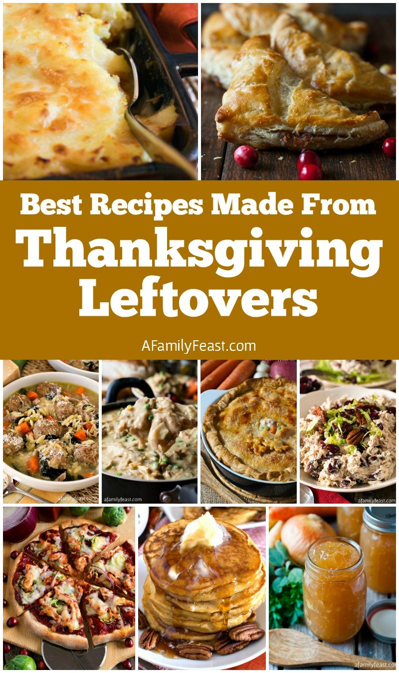 Best Recipes Made From Thanksgiving Leftovers - Delicious soups, salads, casseroles and more all made with leftover turkey and side dishes.